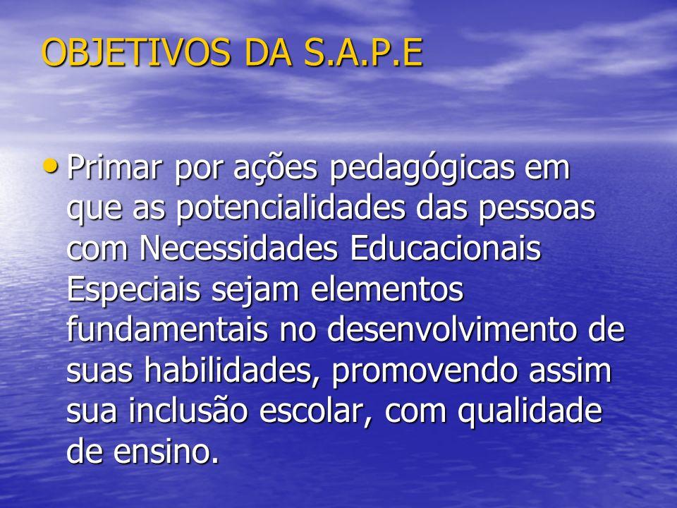 OBJETIVOS DA S.A.P.E