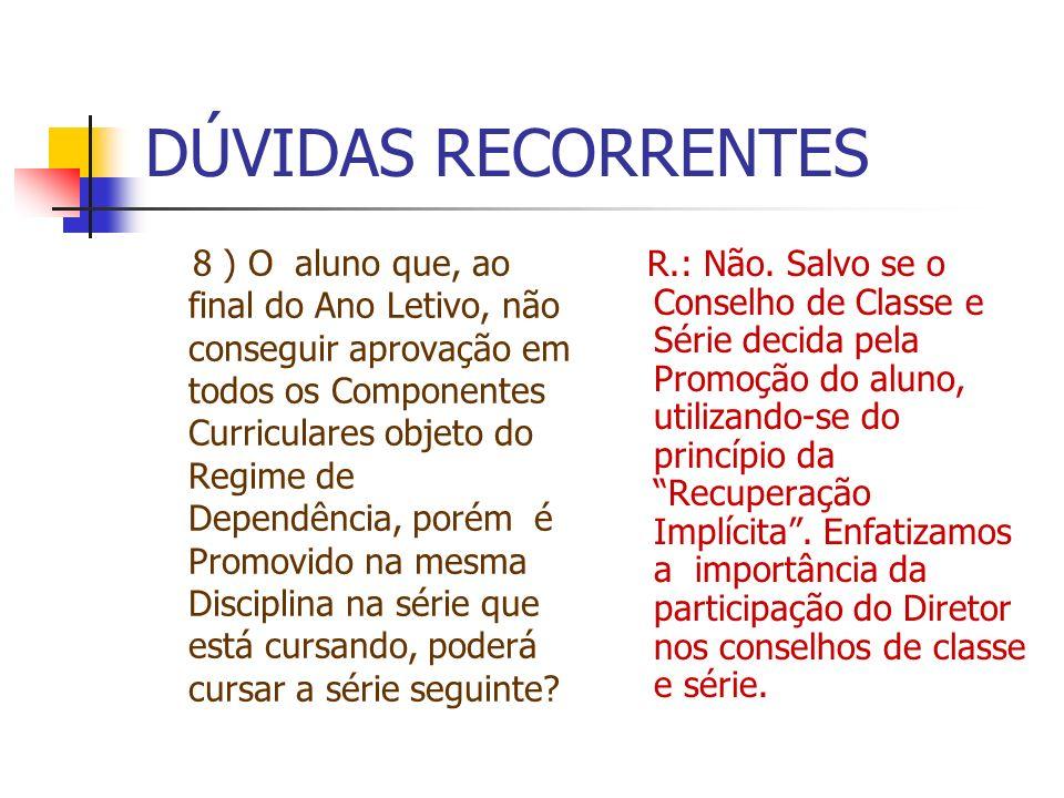 DÚVIDAS RECORRENTES