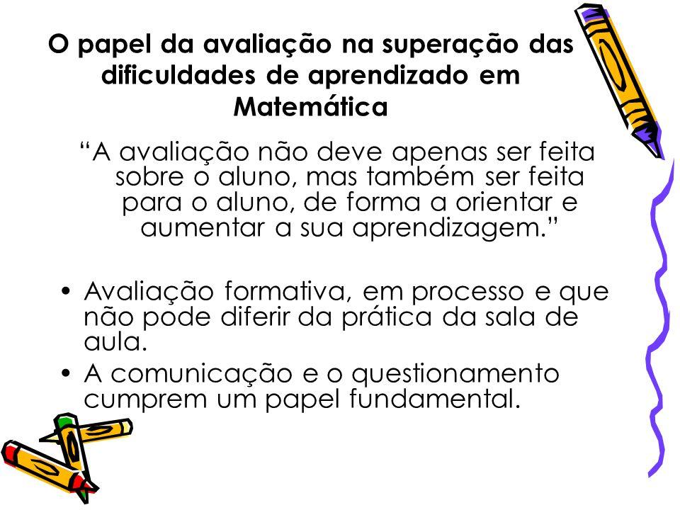 O papel da avaliação na superação das dificuldades de aprendizado em Matemática