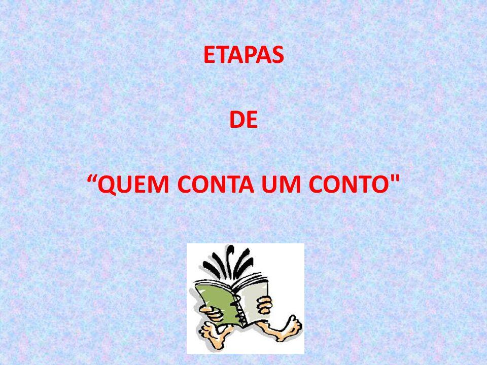 ETAPAS DE QUEM CONTA UM CONTO