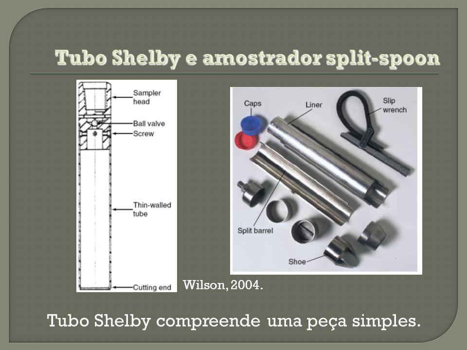 Tubo Shelby e amostrador split-spoon