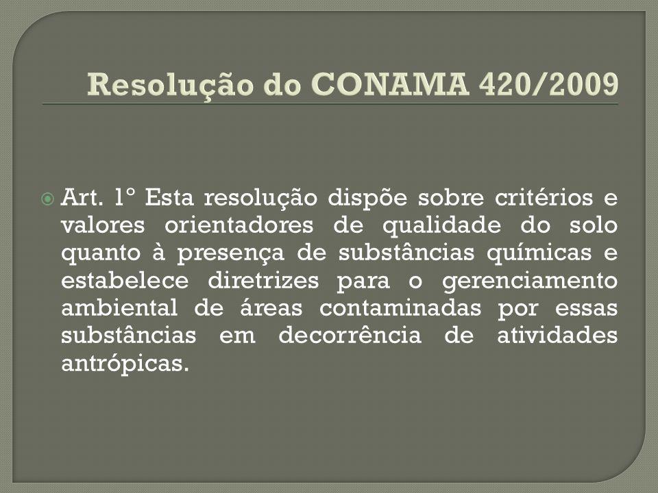 Resolução do CONAMA 420/2009
