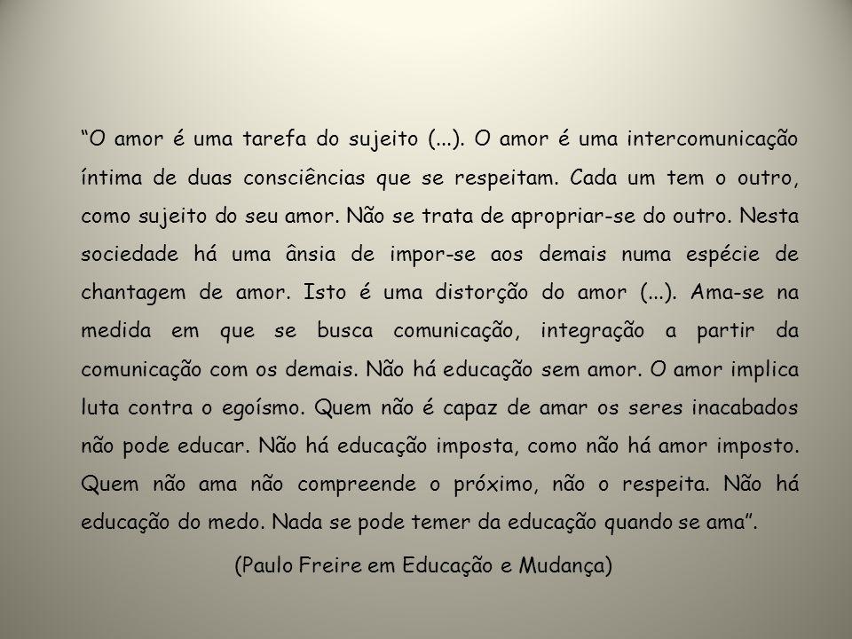 (Paulo Freire em Educação e Mudança)