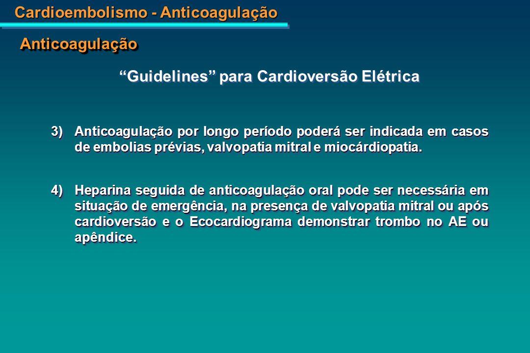 Guidelines para Cardioversão Elétrica