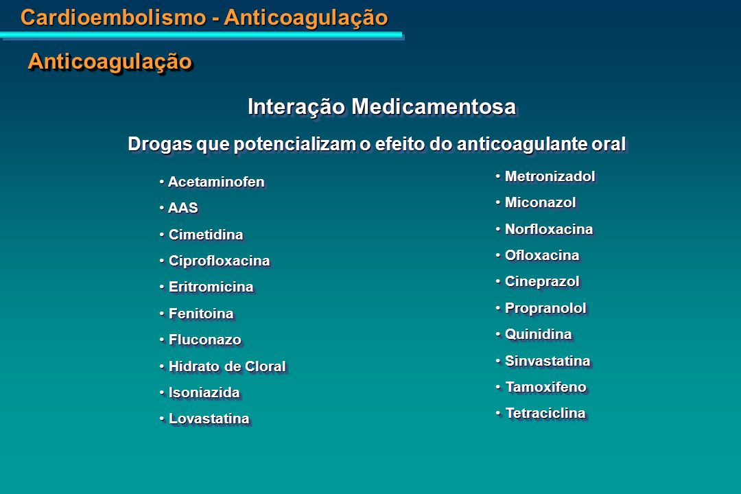 Interação Medicamentosa