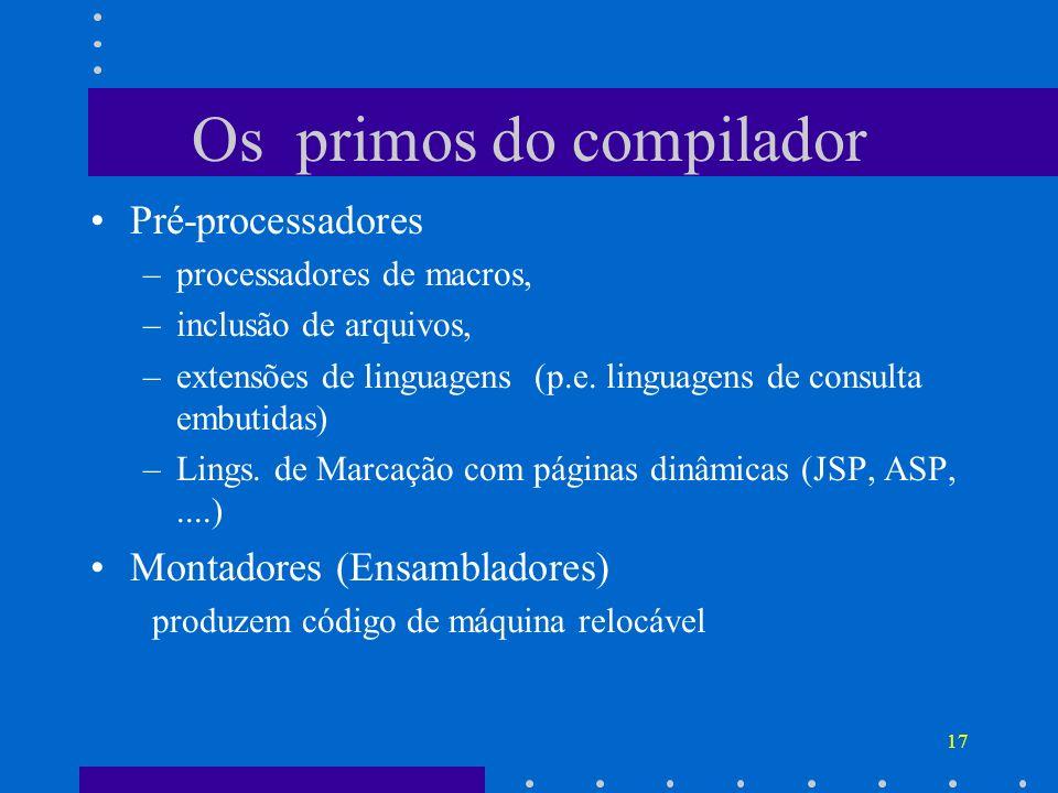 Os primos do compilador