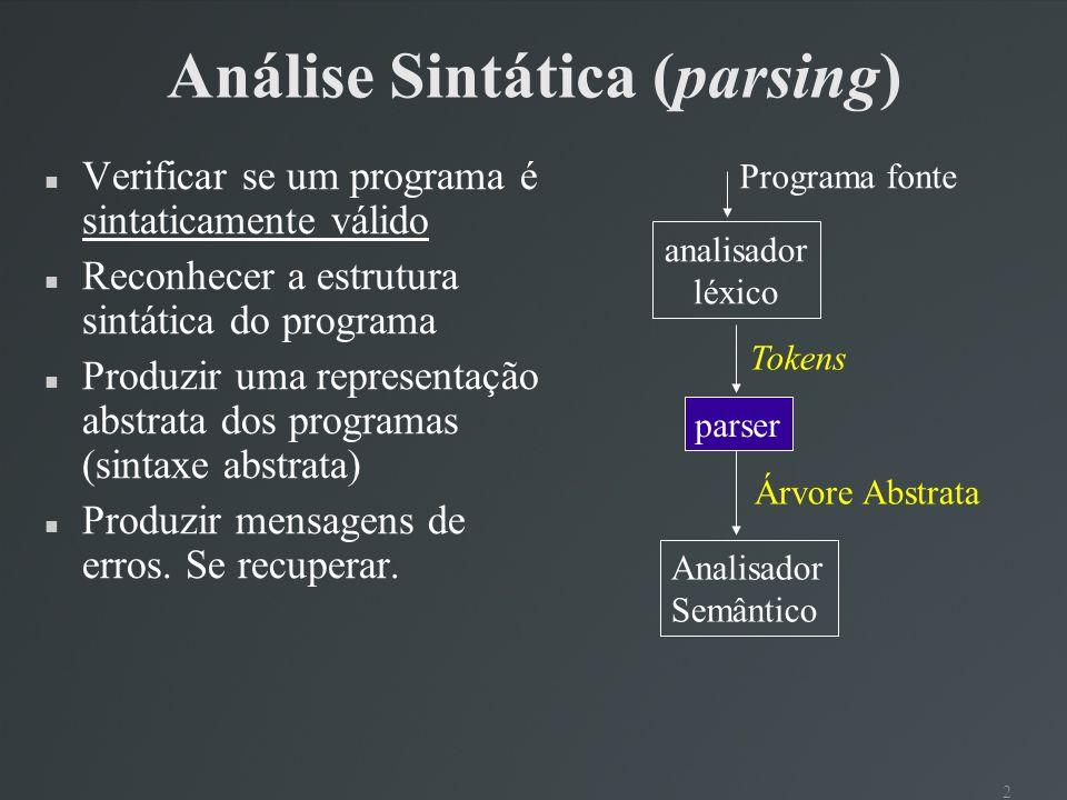 Análise Sintática (parsing)