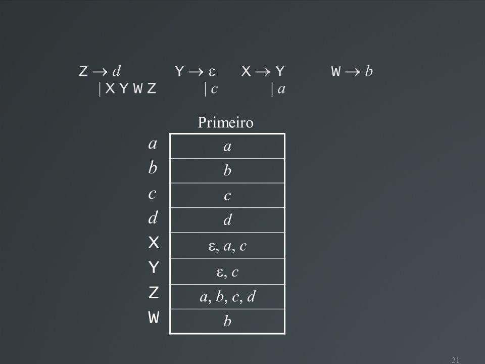 a b c d X Y Z W a Z  d Y   X  Y W  b | X Y W Z | c | a b c d