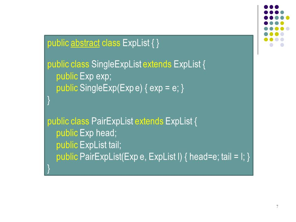 public abstract class ExpList { }