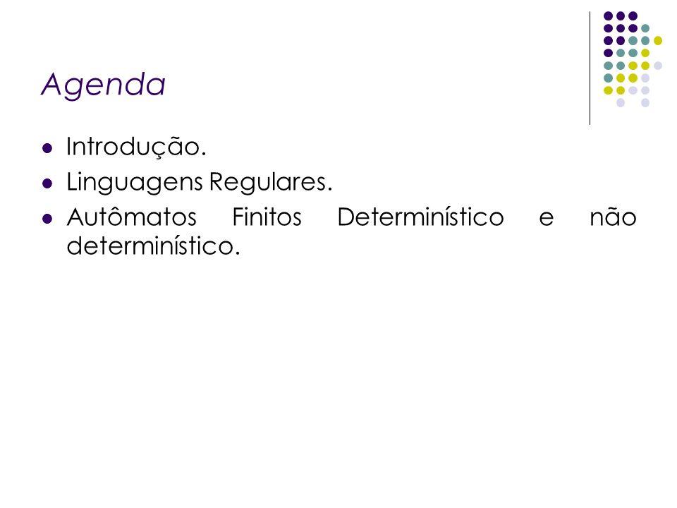 Agenda Introdução. Linguagens Regulares.