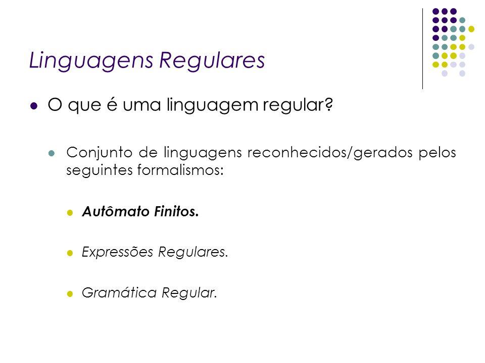 Linguagens Regulares O que é uma linguagem regular