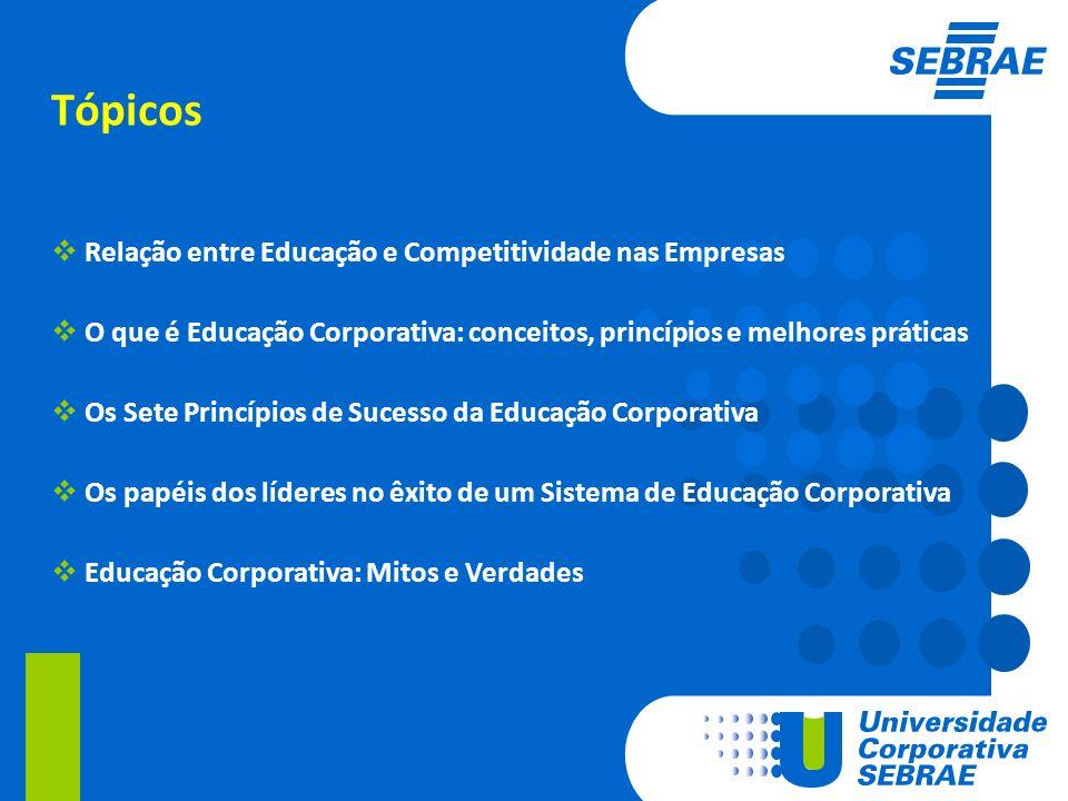 Tópicos Relação entre Educação e Competitividade nas Empresas