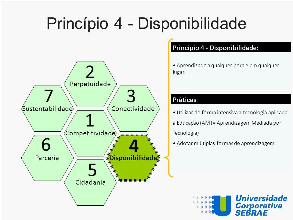 Princípio 4 - Disponibilidade