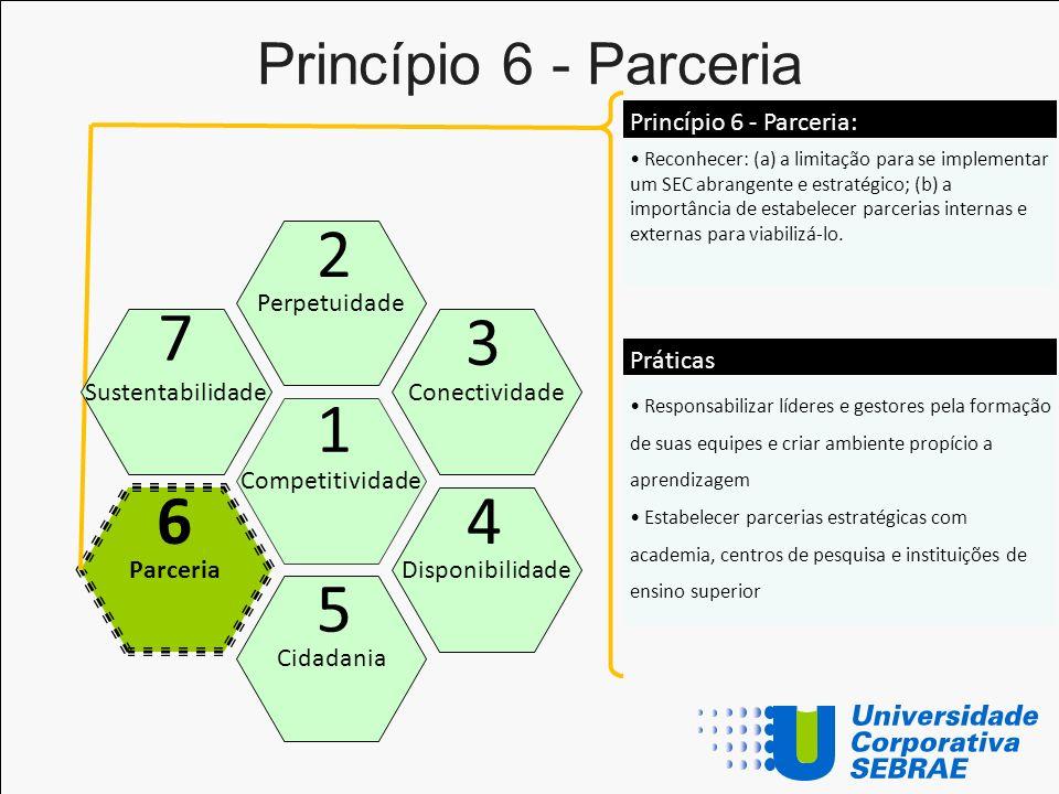 2 7 3 1 6 4 5 Princípio 6 - Parceria Princípio 6 - Parceria: