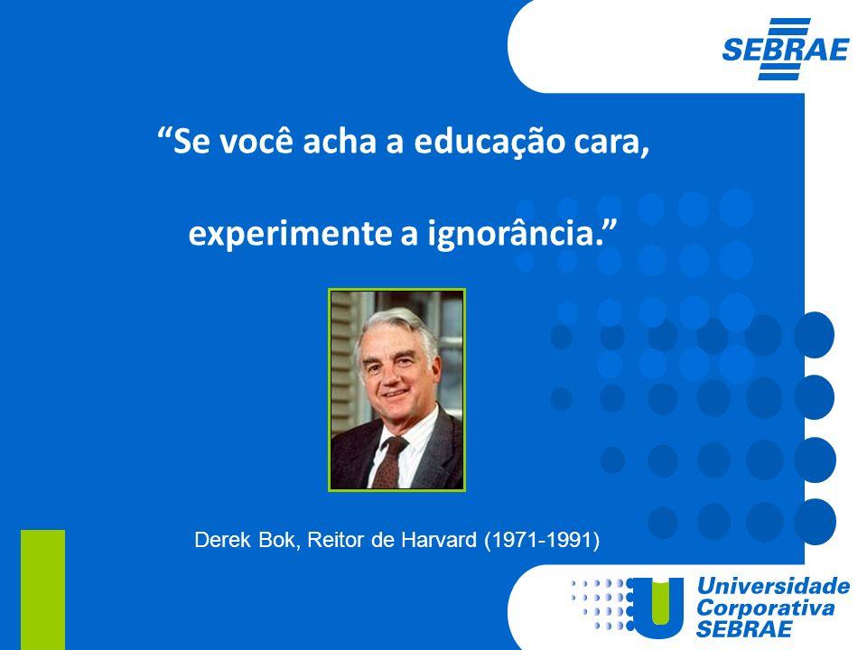 Se você acha a educação cara, experimente a ignorância.