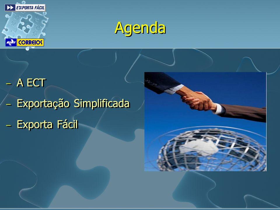 Agenda A ECT Exportação Simplificada Exporta Fácil