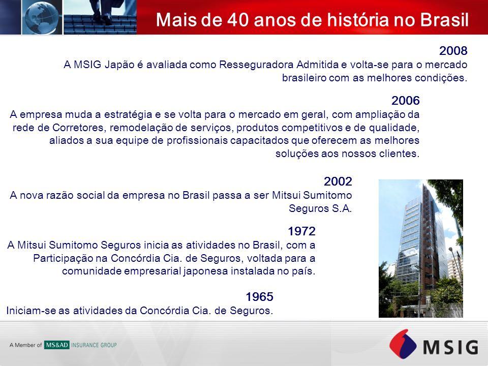 Mais de 40 anos de história no Brasil
