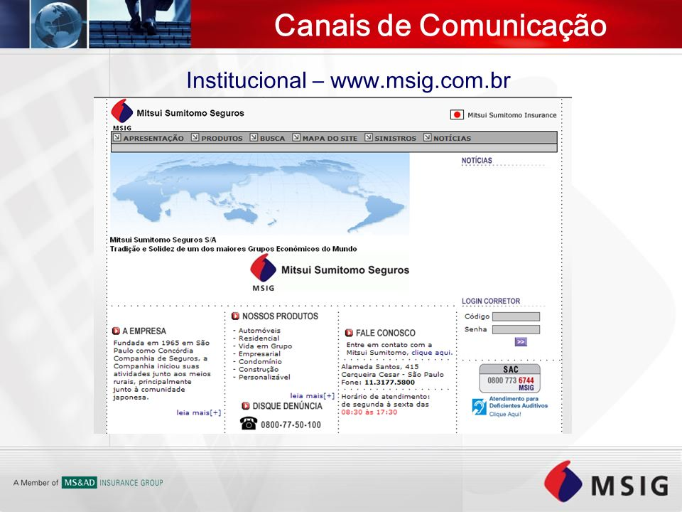 Institucional – www.msig.com.br
