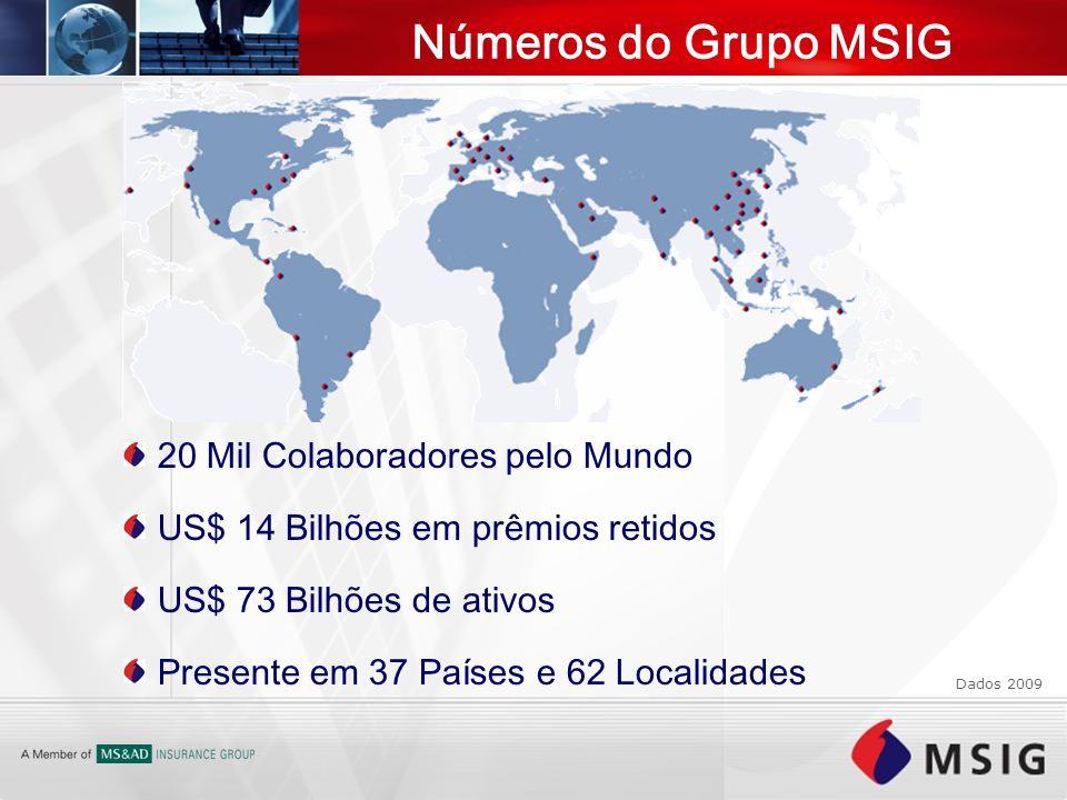 Números do Grupo MSIG 20 Mil Colaboradores pelo Mundo