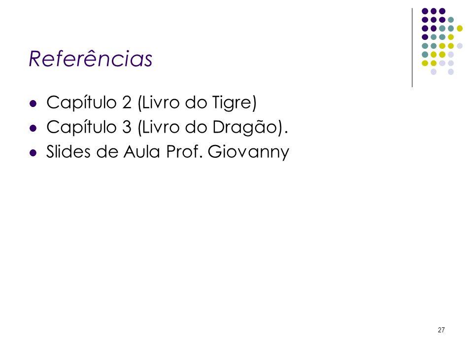 Referências Capítulo 2 (Livro do Tigre) Capítulo 3 (Livro do Dragão).