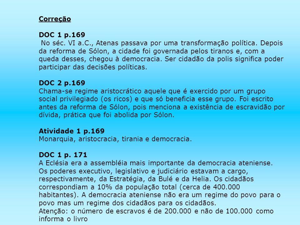 Correção DOC 1 p.169.