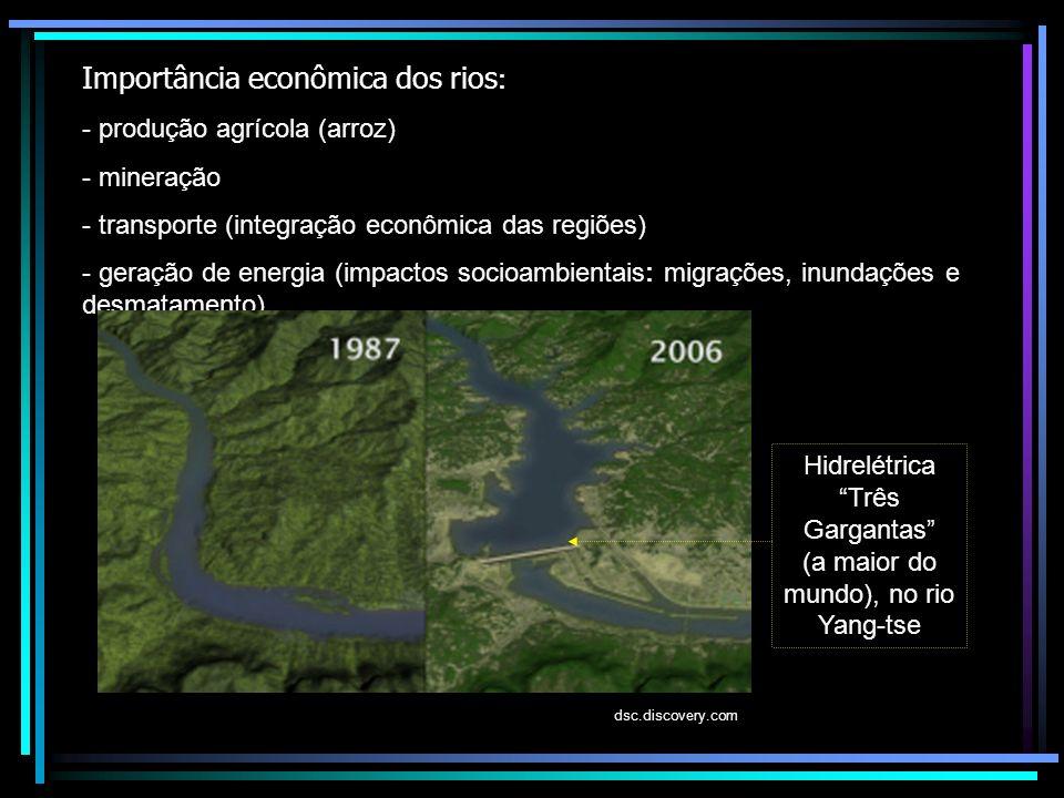 Importância econômica dos rios: