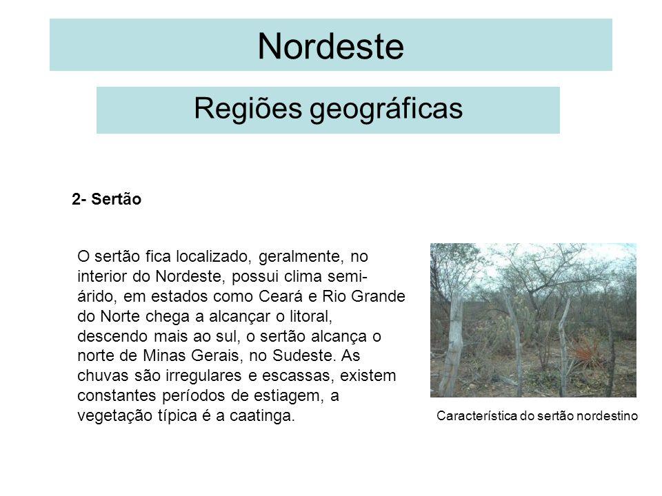 Nordeste Regiões geográficas 2- Sertão