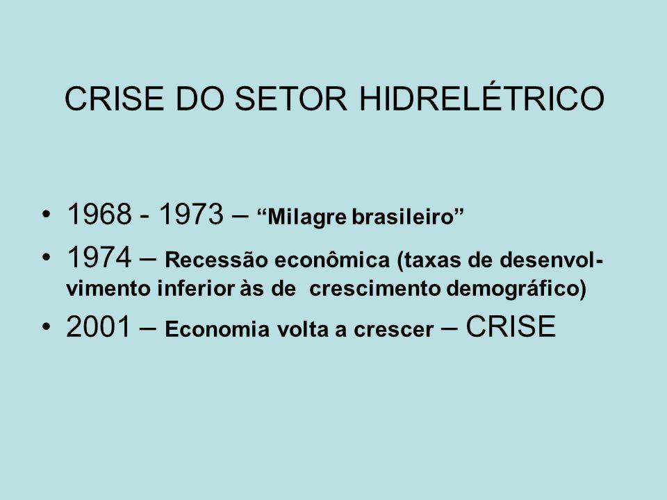 CRISE DO SETOR HIDRELÉTRICO