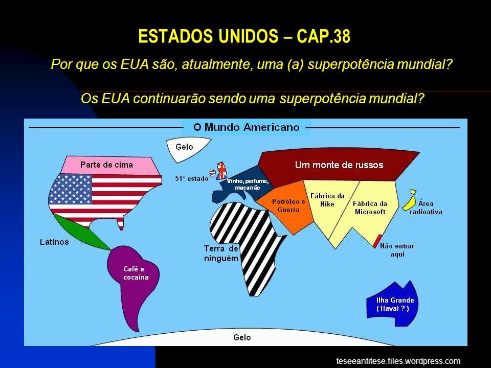 Por que os EUA são, atualmente, uma (a) superpotência mundial