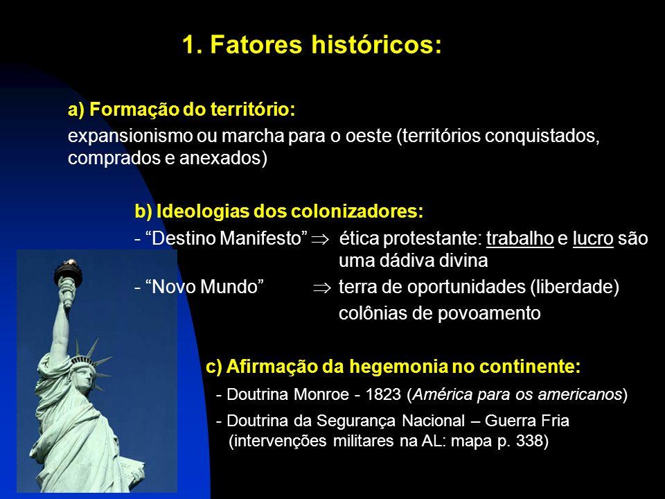 1. Fatores históricos: a) Formação do território: