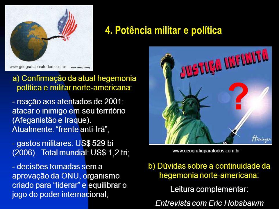 4. Potência militar e política