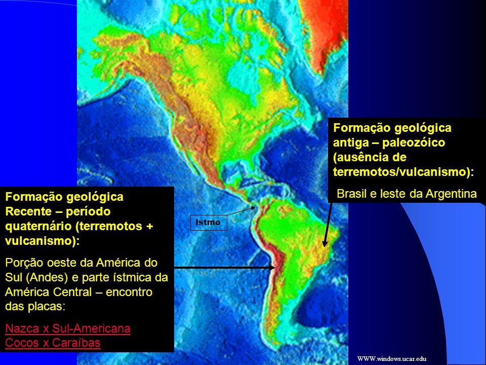 Brasil e leste da Argentina