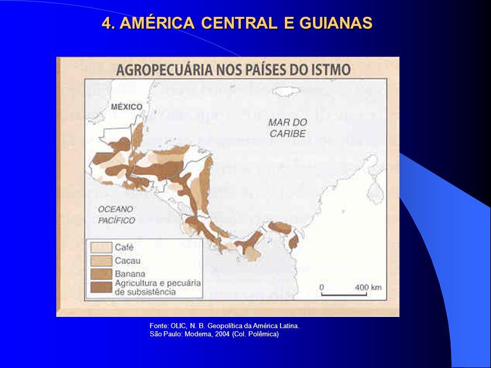 4. AMÉRICA CENTRAL E GUIANAS