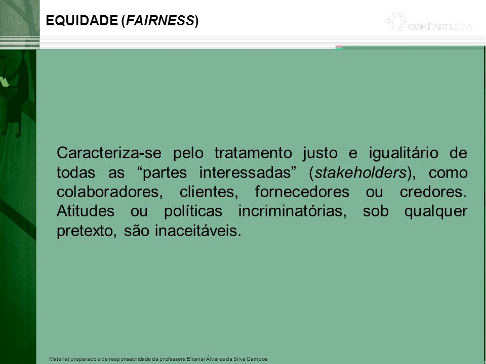 EQUIDADE (FAIRNESS)