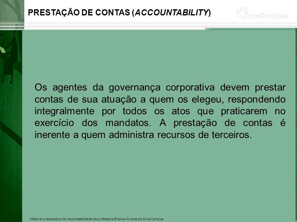 PRESTAÇÃO DE CONTAS (ACCOUNTABILITY)