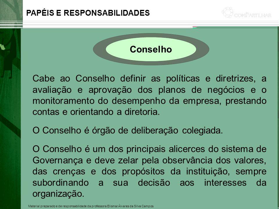 O Conselho é órgão de deliberação colegiada.