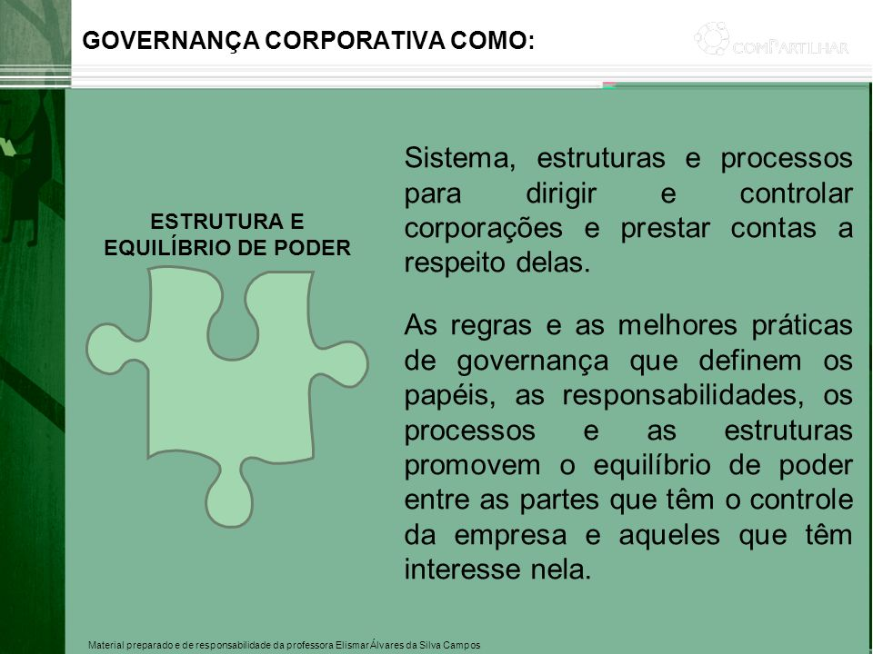 GOVERNANÇA CORPORATIVA COMO:
