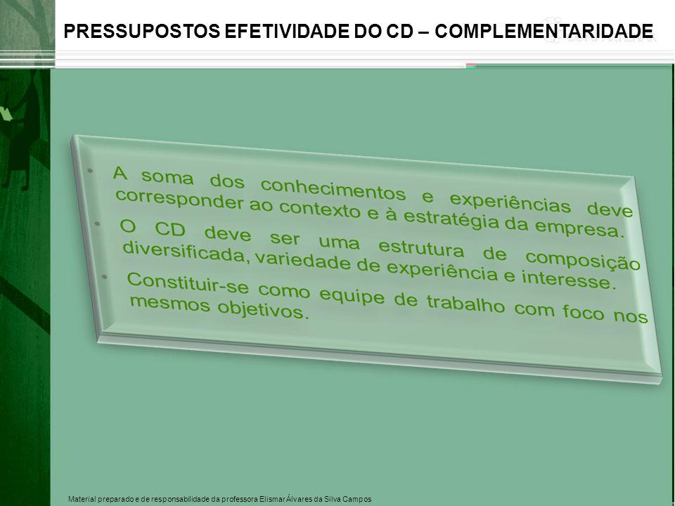 PRESSUPOSTOS EFETIVIDADE DO CD – COMPLEMENTARIDADE