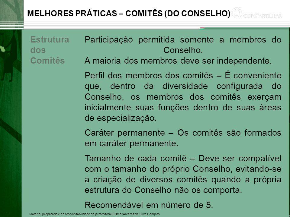 Caráter permanente – Os comitês são formados em caráter permanente.