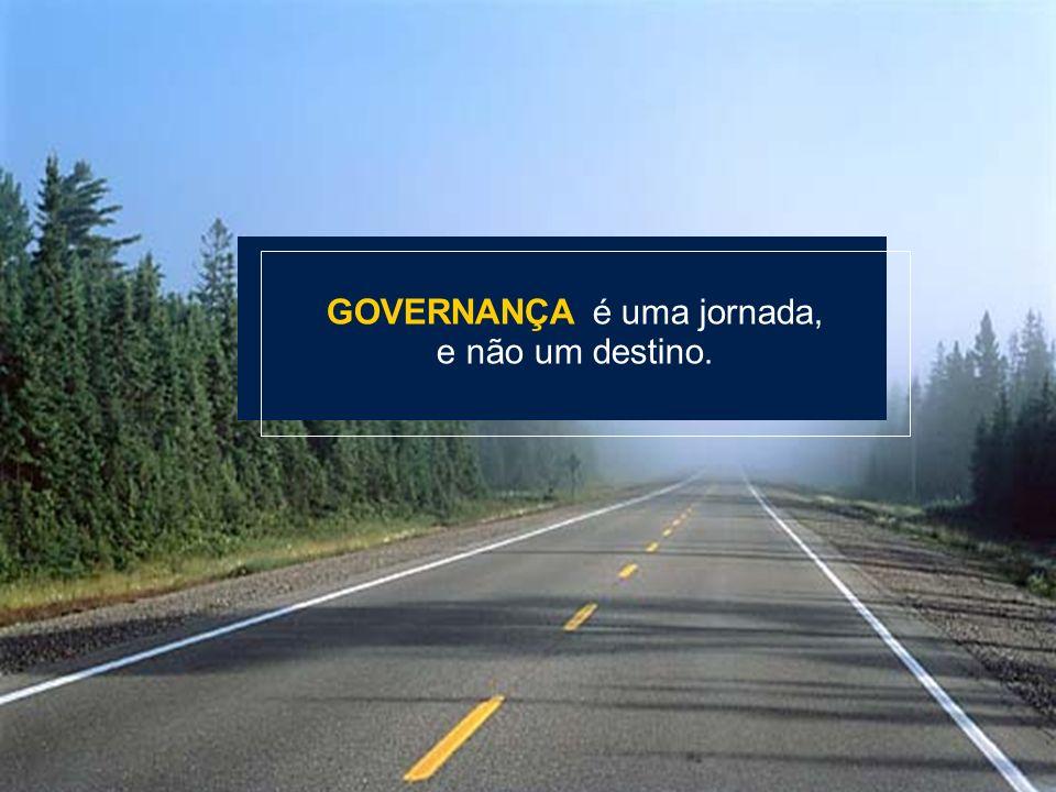 GOVERNANÇA é uma jornada,