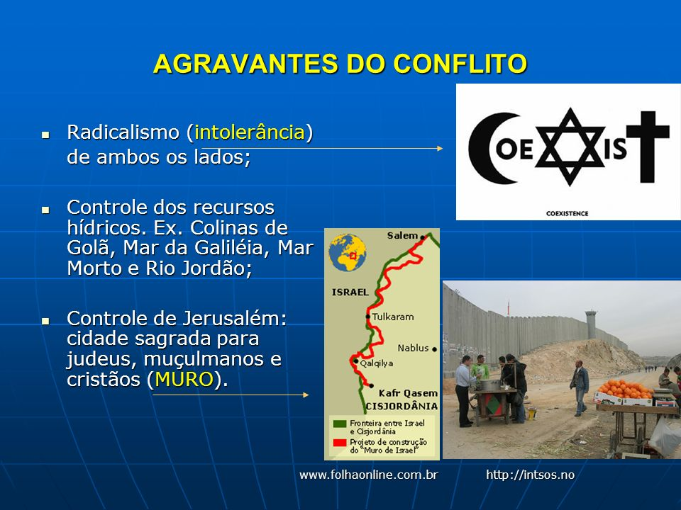 AGRAVANTES DO CONFLITO