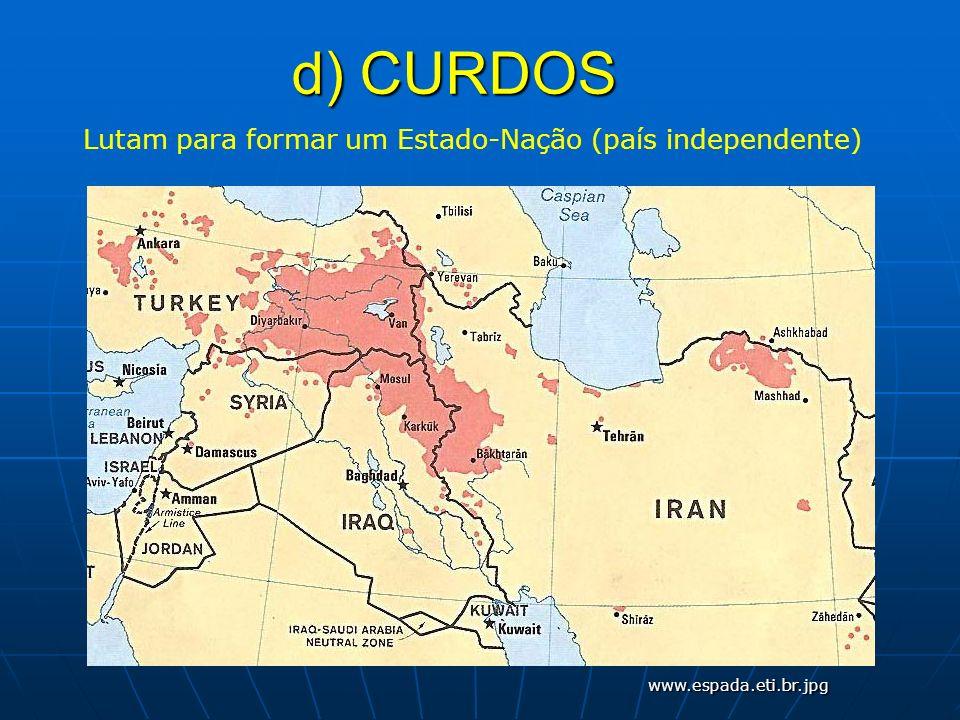 Lutam para formar um Estado-Nação (país independente)