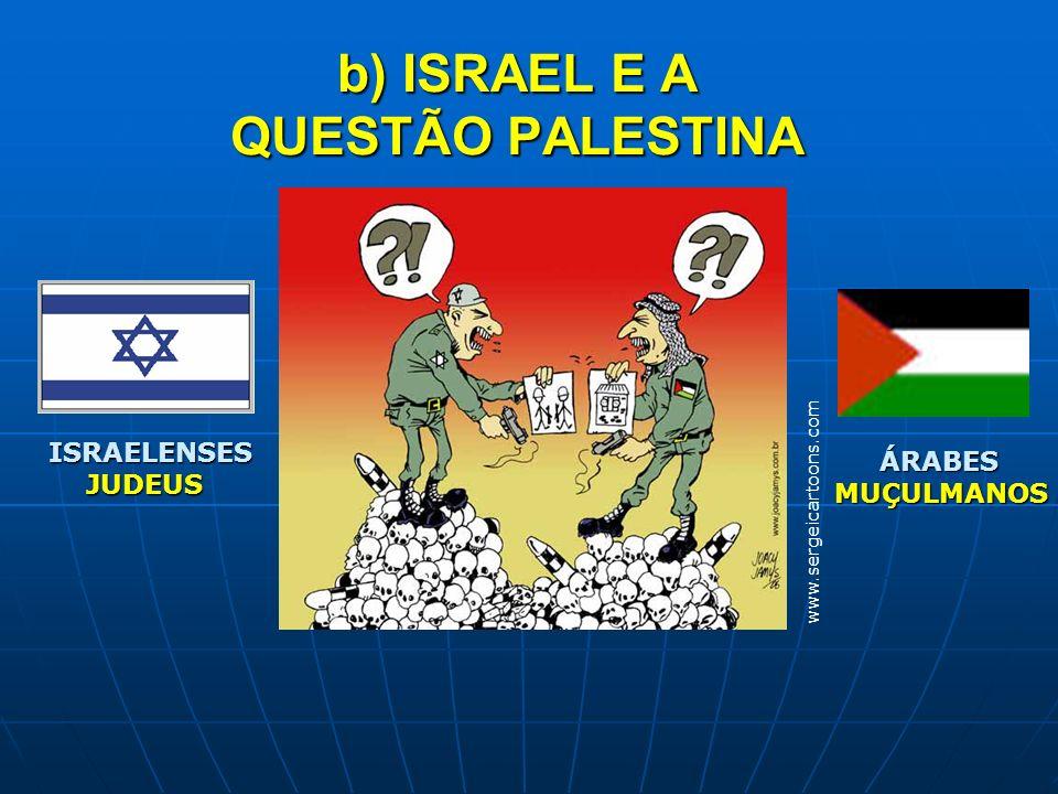 b) ISRAEL E A QUESTÃO PALESTINA
