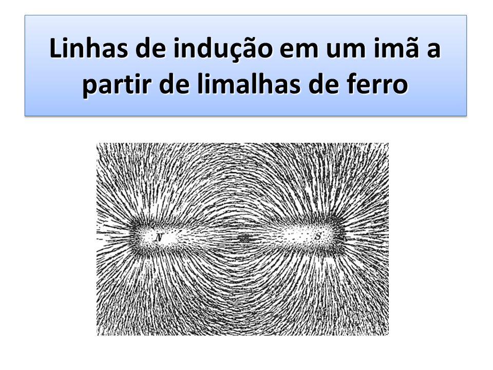 Linhas de indução em um imã a partir de limalhas de ferro