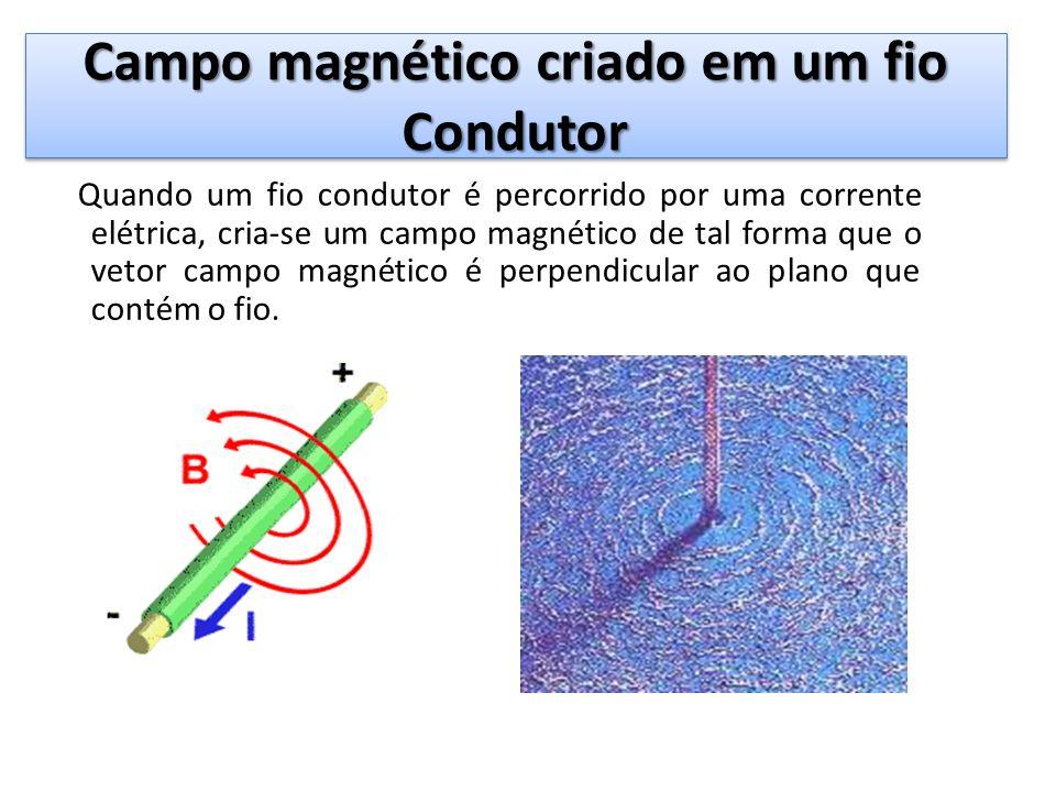 Campo magnético criado em um fio Condutor