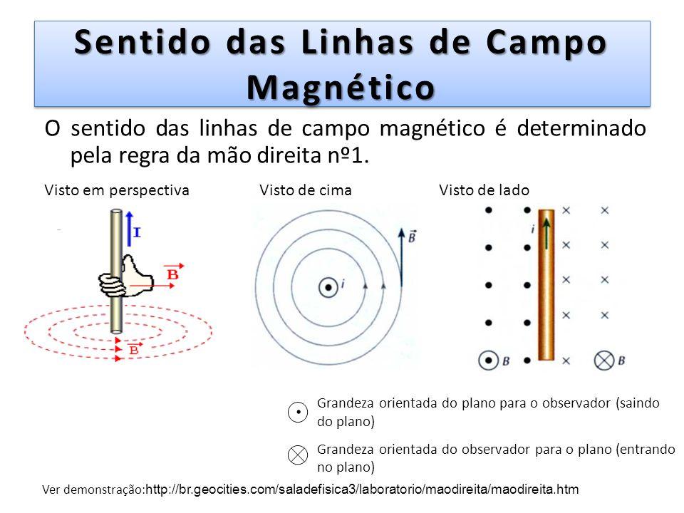 Sentido das Linhas de Campo Magnético