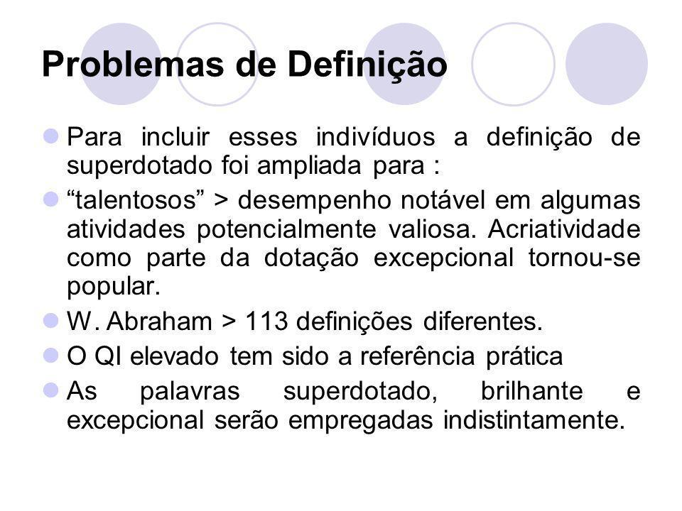 Problemas de Definição