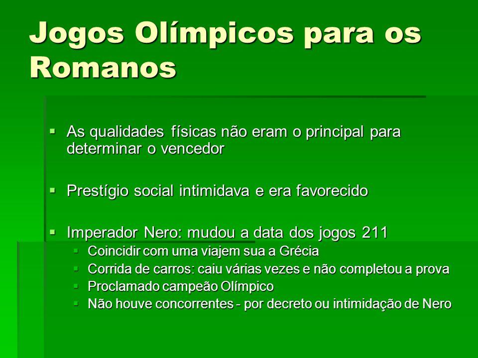 Jogos Olímpicos para os Romanos
