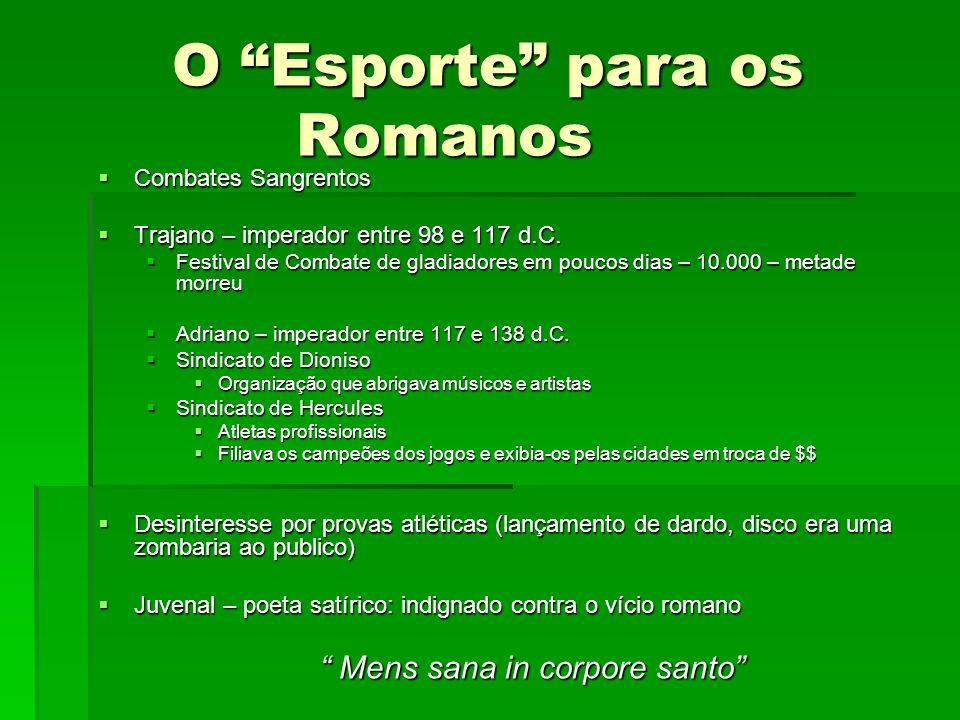 O Esporte para os Romanos