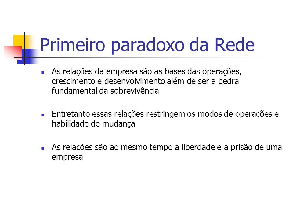 Primeiro paradoxo da Rede